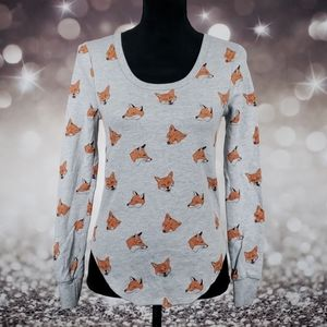 Truly Madly Deeply Fox Foxes Long Sleeve Sweater
